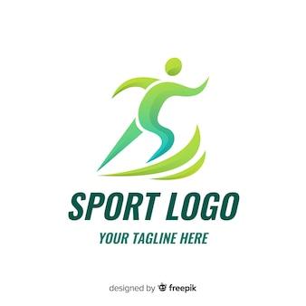 Design de logotipo abstrato esporte silhueta plana