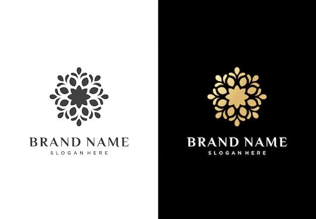 Design de logotipo abstrato flor
