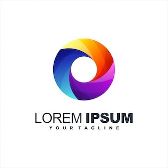 Design de logotipo abstrato gradiente impressionante