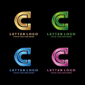 Design de logotipo abstrato letra c