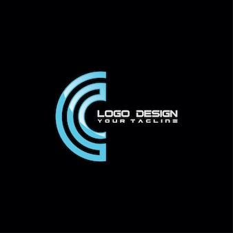 Design de logotipo abstrato moderno c símbolo