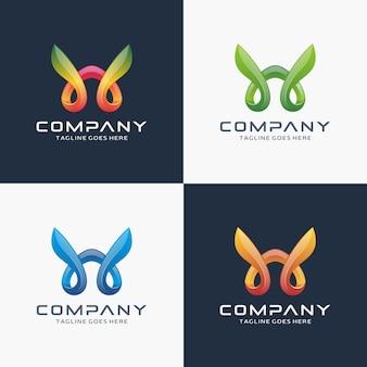Design de logotipo abstrato moderno letra w
