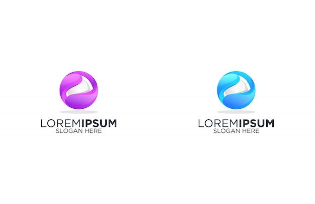 Design de logotipo abstrato pérola incrível