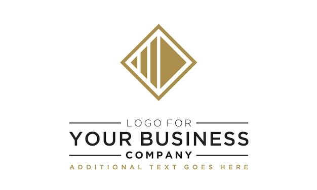 Design de logotipo abstrato quadrado profissional
