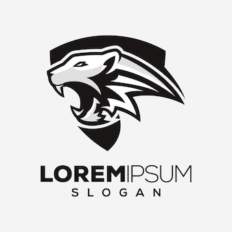 Design de logotipo abstrato tigre