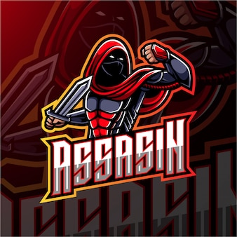 Design de logotipo assassino esport mascote