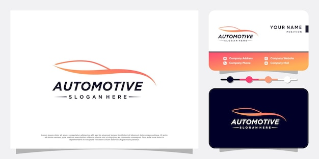 Design de logotipo automotivo moderno vetor premium