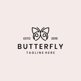 Design de logotipo borboleta abstrata