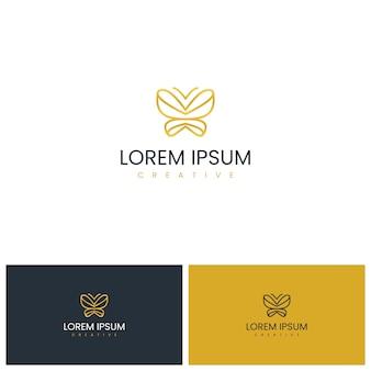 Design de logotipo borboleta inspirador