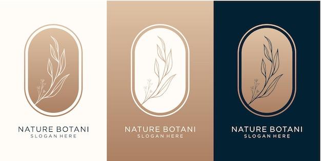 Design de logotipo botânico de luxo para sua marca