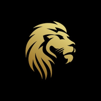 Design de logotipo cabeça de leão