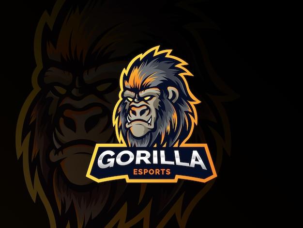 Design de logotipo cabeça gorila
