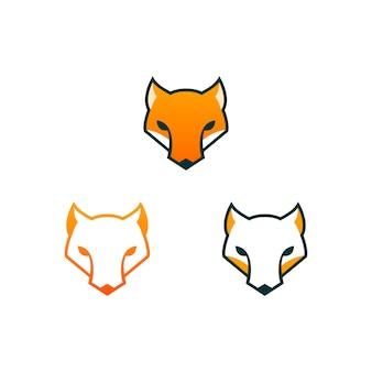Design de logotipo cabeça raposa