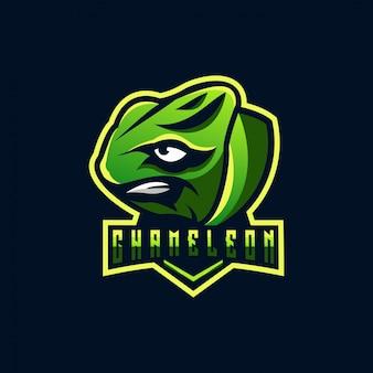 Design de logotipo camaleão