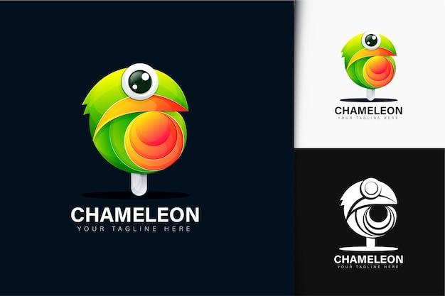 Design de logotipo cameleon e pirulito
