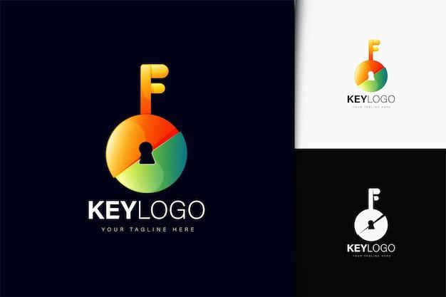 Design de logotipo chave com gradiente