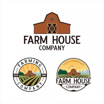 Design de logotipo clássico fazenda