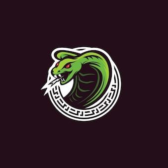 Design de logotipo cobra cobra