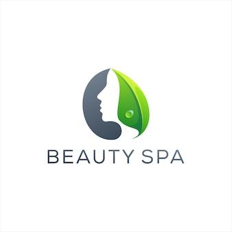 Design de logotipo colorido da senhora da beleza