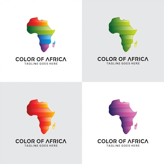 Design de logotipo colorido de áfrica