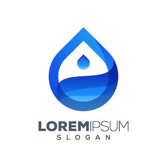 Design de logotipo colorido de água
