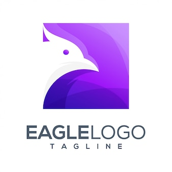 Design de logotipo colorido de águia