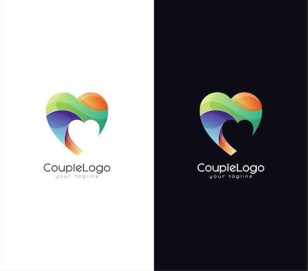 Design de logotipo colorido de amor
