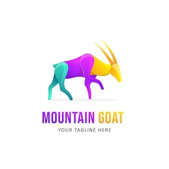 Design de logotipo colorido de cabra