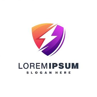 Design de logotipo colorido de energia