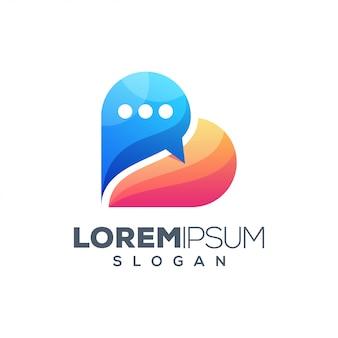 Design de logotipo colorido de folha
