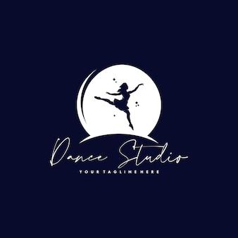 Design de logotipo colorido de ginástica abstrata