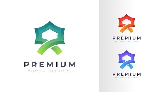 Design de logotipo colorido do alcorão islâmico ou mesquita