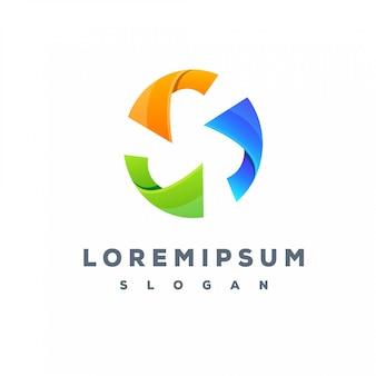 Design de logotipo colorido do círculo pronto para uso