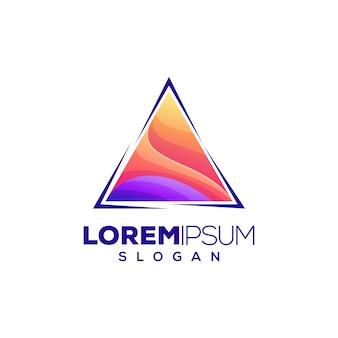 Design de logotipo colorido do triângulo