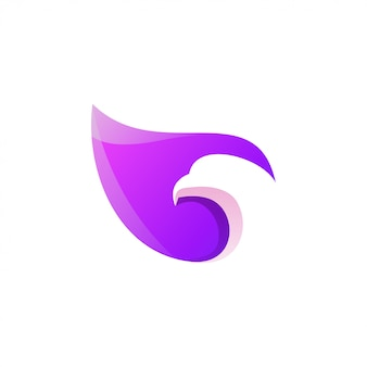 Design de logotipo colorido impressionante águia
