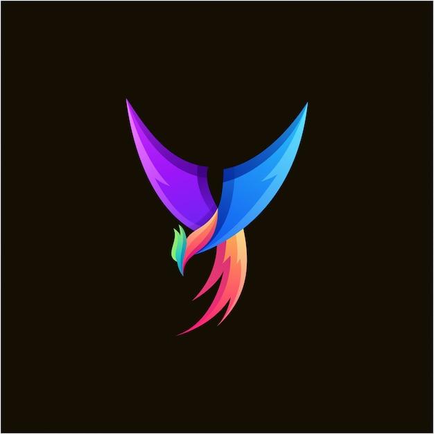 Design de logotipo colorido incrível fênix