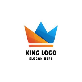 Design de logotipo colorido king gradient