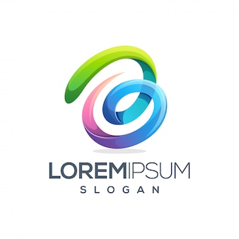 Design de logotipo colorido letra b
