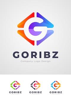 Design de logotipo colorido letra g