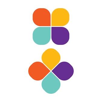 Design de logotipo colorido simples