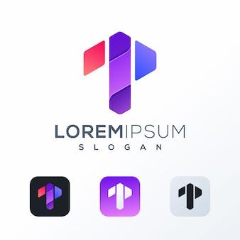 Design de logotipo colorido tecnologia