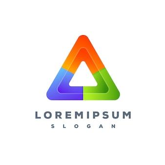 Design de logotipo colorido triângulo pronto para uso