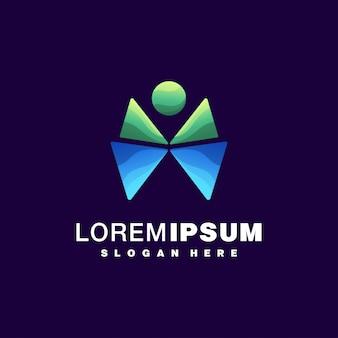 Design de logotipo colorido