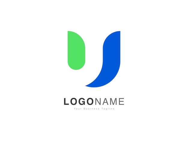 Design de logotipo com letra u inicial em estilo gradiente moderno