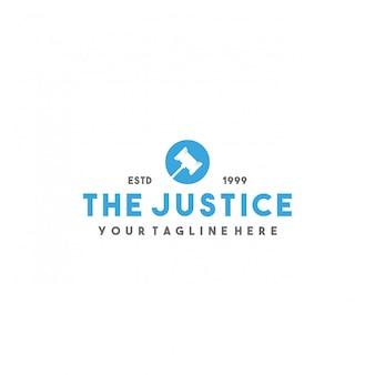 Design de logotipo criativo da justiça moderna