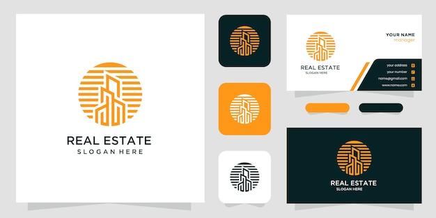 Design de logotipo criativo de imóveis e cartão de visita