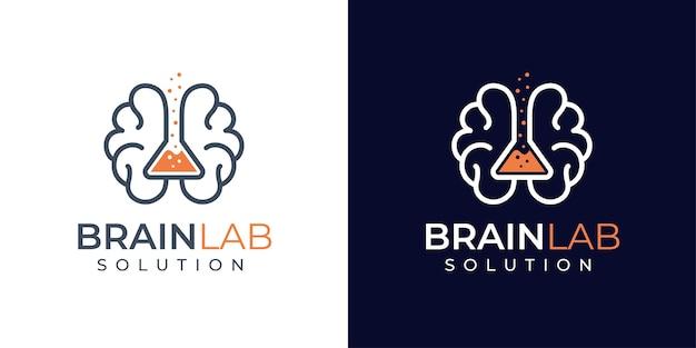 Design de logotipo criativo e de laboratório