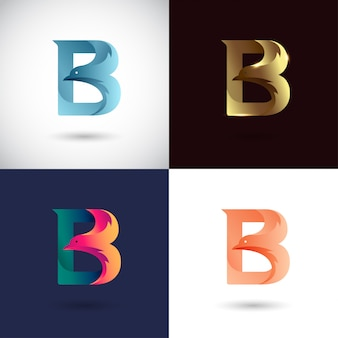 Design de logotipo criativo letra b