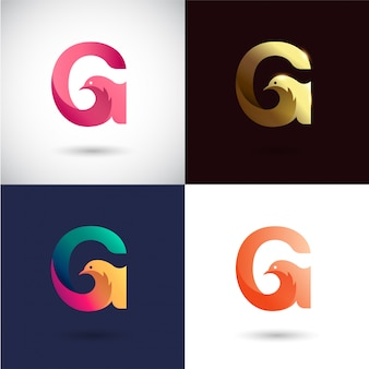 Design de logotipo criativo letra g