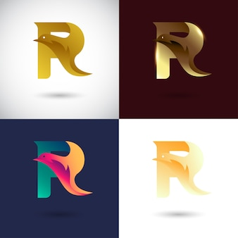Design de logotipo criativo letra r
